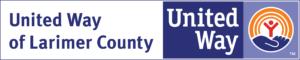 Imagen del texto que dice United Way del condado de Larimer United Way y el logo