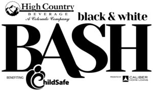 black and white bash at childsafe