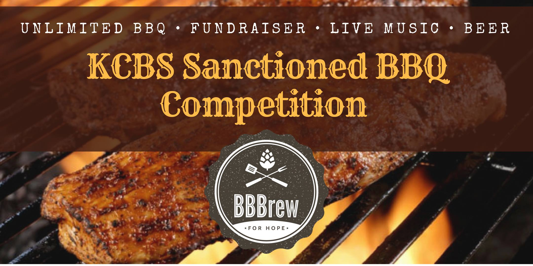KCBS Sanctioned BBQ Competition Logo. Image of Steak on Grill