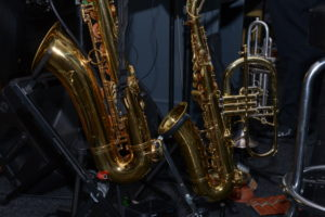 Image of two saxophones